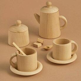 ままごと 食器 ティーセット 木製 Raduga Grez ティーセット(ナチュラル) 木のおもちゃ 知育玩具 おままごと ごっこ遊び