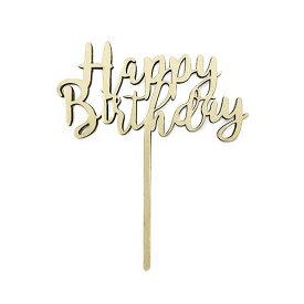 木製 ケーキトッパー ハッピーバースデー 誕生日 Happy Birthday バースデーパーティー フォトプロップス Cake Topper 誕生日ケーキ