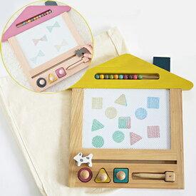 【送料無料】【リニューアルバージョン】お絵かき ボード gg* 4色の色が楽しめる おえかきボード お絵かきハウス oekaki house (dog/cat) 木製玩具 知育玩具 kiko