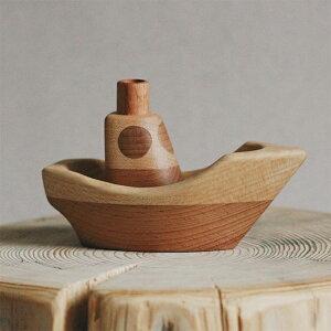 【送料無料】 tateplota 木製 ボート ロシア 木のおもちゃ 知育玩具 ベビーギフト 子供部屋インテリア 木製オブジェ 出産祝い 幼児 木製玩具 ごっこ遊び