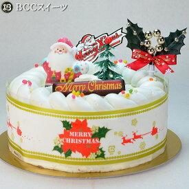 クリスマスケーキ 5号 N 生クリーム / 15cm いちご 生クリームケーキ 2020 予約 クリスマス ケーキ お取り寄せ 子供 人気 サンタ 飾り 冷凍 ギフト サイズ プレゼント スイーツ お菓子 フルーツケーキ