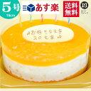バースデーケーキ 誕生日ケーキ 5号プレートオレンジヨーグルトムースケーキ