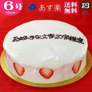 バースデーケーキ 誕生日ケーキ 6号 名入れ 大阪 ヨーグルトケーキ/父の日 18cm  フルーツケーキ 大阪 名物 送料無料 あす楽 誕生日 バースデー 結婚記念日 ケーキ プレゼント スイーツ ギフト