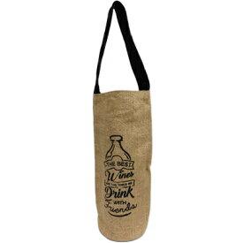 【ゆうパケット送料無料2】麻ワインバッグ1本用 1ハンドル ナチュラル 4520529071351【19001】【メール便】【R111】