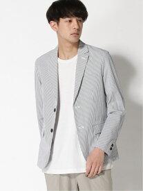 [Rakuten Fashion]【SALE/63%OFF】(M)サッカー ストライプテーラードジャケット B.C STOCK ベーセーストック コート/ジャケット テーラードジャケット ブルー【RBA_E】