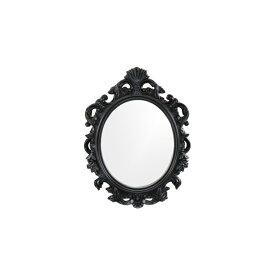 ミラー 鏡 壁掛け デコラティブ フレーム ブラック ヴィクトリアン 幅70×高93cm INK-0701014H