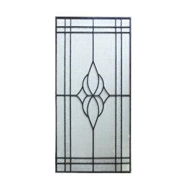 ステンドグラス 窓枠 ドア パネル アイアン 幅42.5cm INK-1103017H