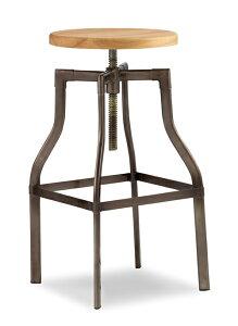チェア 椅子 ウッド 木 昇降式 幅50cm×座34Φ×座面67〜84cm アダル ドリエル adal-Doriel