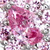 PT900 0.176ct粉红钻石项链0.18ct pinkudaiyamondodekoreto观点FANCY INTENSE PURPLISH PINK