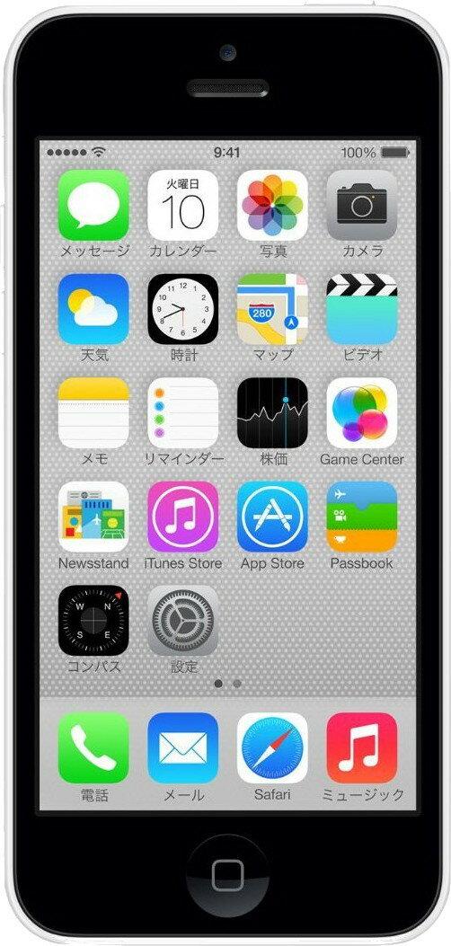 中古スマートフォンApple iPhone5c 16GB au(エーユー) ホワイト ME541J/A 【中古】 Apple iPhone5c 16GB 中古スマートフォンApple A6 iOS10.2.1 Apple iPhone5c 16GB 中古スマートフォンApple A6 iOS10.2.1