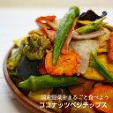 国産野菜100%【ココナッツベジチップス】純国産野菜だけで野菜チップスを作りました。プレミアムココナッツオイルで…