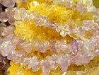 ●プレゼント価格で天然石さざれ細石ラベンダーアメジストライト5〜6mm1本