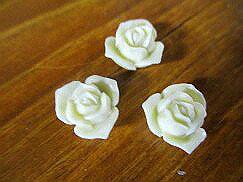 薔薇 薔薇雑貨 ローズ 造花 薔薇 ソフトプラスチック ホワイトウェディングローズ 8 薔薇 ビーズアクセサリーパーツ
