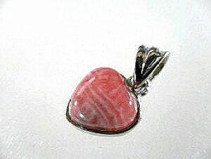 インカローズ ペンダントトップ ピンクのハート-32/ ロードクロサイト インカローズ 天然石 ペンダントトップ 天然石 原石 インカローズ 原石