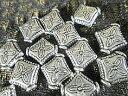 メタル ビ−ズ メタルパーツ ひし形 B−65(40個)メタル ビ−ズアクセサリーパーツ シルバー メタル/メタル ピアス …