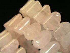 天然石 ロ−ズクォ−ツ ブレスレット 大粒デザインカット/天然石 ブレスレット ローズクォーツ ブレスレット
