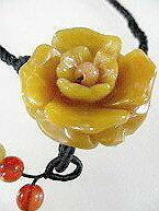 翡翠 ネックレス 翡翠 ペンダント 薔薇のペンダントネックレス(30〜31mm/ 翡翠 原石