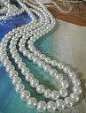 ガラスパール ガラスビーズ ガラスパールネックレスへ 4mm珠