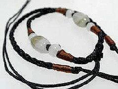 翡翠 ペンダントネックレス制作用 翡翠のひもチェーン 縁結び−49 東洋のエメラルド アジアを代表する翡翠で