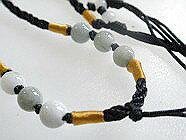翡翠 ペンダント 翡翠 ネックレス制作用 翡翠 アクセサリーパーツ ひもチェーン 縁結び−65 東洋のエメラルド