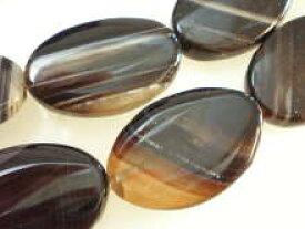 めのう ビーズ 天然石 アクセサリーパーツ 大粒 めのう 黒めのう OV−8(ばらケ売り/めのう 天然石 ビーズ めのう 天然石 アクセサリー パーツ