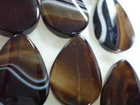 天然石 めのう ビーズ アクセサリーパーツ でっか大玉 黒めのう しずくタイプ−2(ばらケ売り/めのう 天然石 ビーズ めのう 天然石 アクセサリーパーツ