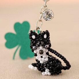 ビーズファクトリー ポージングアニマルキット(おすましキャット) No.67 ビーズ キット チャーム モチーフ どうぶつ 猫 ネコ ねこ