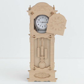 立体パズル 木製 Wooden Art ki-gu-mi 古時計 ウォッチケース クラフト キット ハンドメイド 手作り インテリア 知育 リハビリ 収納 時計収納 【あす楽対応】