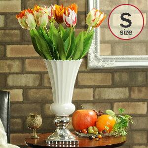 花瓶 陶器 フラワーベース ペティエ S ホワイト 326-306-173 _PP02 花器 白色 白い エレガント クラシック エレガント パーティー ヨーロピアン おしゃれ インテリア インテリア エレガント 優美