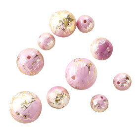 唐草ビーズ ゴールドライン 薄紫 アクセサリーパーツ