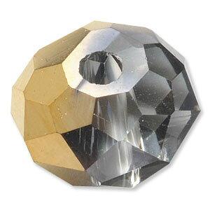 カットガラス ボタンカット ハーフコート ゴールド 2×3mm 60個 アクセサリーパーツ