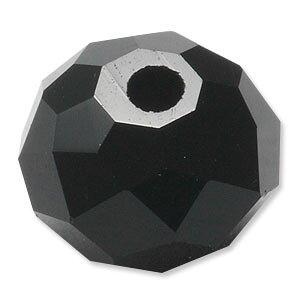 カットガラス ボタンカット ジェット 2×3mm 60個 アクセサリーパーツ