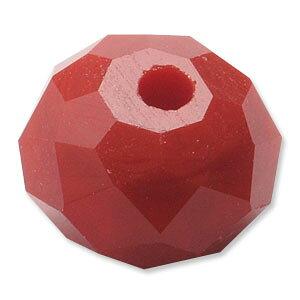 カットガラス ボタンカット コーラル 2×3mm 60個 アクセサリーパーツ
