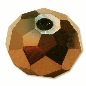 カットガラス ボタンカット ゴールド 2×3mm 60個 アクセサリーパーツ