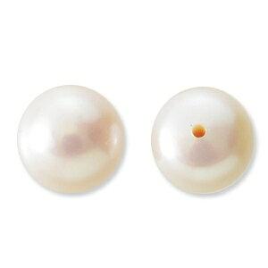 淡水パール ボタン片穴 ピンク系 8-8.5mm 2個 アクセサリーパーツ