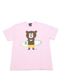 [Rakuten Fashion]【SPECIAL PRICE】BEAMS T / Surfboard Bear Tee BEAMS T ビームスT カットソー Uネックカットソー ピンク ホワイト