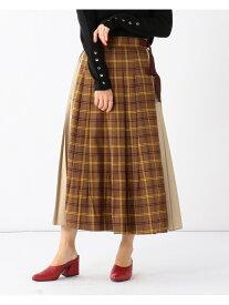 [Rakuten Fashion]【SALE/50%OFF】Ray BEAMS / キリカエ チェック ラップスカート Ray BEAMS ビームス ウイメン スカート ロングスカート ベージュ ネイビー【RBA_E】【送料無料】