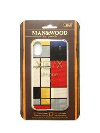 [Rakuten Fashion]Man&Wood / iPhoneXS・X ケース BEAMS MEN ビームス メン ファッショングッズ 携帯ケース/アクセサリー ネイビー