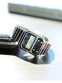 CASIO / A100WE-1AJF デジタルウォッチ シルバー BEAMS MEN ビームス メン ファッショングッズ 腕時計 シルバー【送料無料】[Rakuten Fashion]