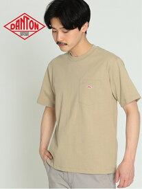 [Rakuten Fashion]【WEB限定】DANTON / ポケット Tシャツ DANTON ビームス メン カットソー Tシャツ ベージュ グリーン ブルー【送料無料】