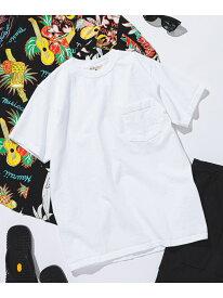 [Rakuten Fashion]GOODWEAR / ポケット Tシャツ BEAMS MEN ビームス メン カットソー Tシャツ ホワイト ブラック レッド ブラウン ピンク グレー ネイビー カーキ パープル オレンジ グリーン【送料無料】