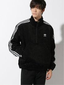 [Rakuten Fashion]adidas / コーデュロイ ハーフZIP ジャケット BEAMS MEN ビームス メン カットソー カットソーその他 ブラック【送料無料】
