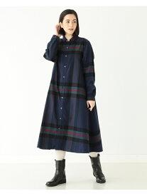 [Rakuten Fashion]BEAMS BOY / ビッグ タータン ワンピース BEAMS BOY ビームス ウイメン ワンピース シャツワンピース グレー ブラウン【送料無料】