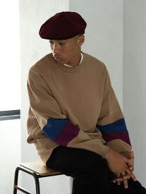 [Rakuten Fashion]BEAMS / NEW STANDARD スリーブライン クルーネック スウェット BEAMS MEN ビームス メン カットソー カットソーその他 ベージュ グレー【送料無料】