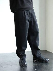 [Rakuten Fashion]BEAMS / NEW STANDARD 1プリーツ ワイドデニム パンツ BEAMS MEN ビームス メン カットソー カットソーその他 ブラック ネイビー【送料無料】