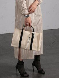 [Rakuten Fashion]styiro / キャンバス トートバッグ M BEAMS LIGHTS ビームスライツ バッグ トートバッグ ブラック シルバー【送料無料】
