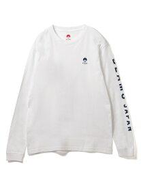 [Rakuten Fashion]BEAMS JAPAN / ビームス ジャパン 袖ロゴ Tシャツ ホワイト ビームス ジャパン BEAMS JAPAN ビームス ジャパン カットソー Tシャツ ブルー レッド【送料無料】