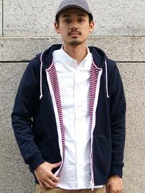 [Rakuten Fashion]BEAMS / トリコライン ジップ パーカ BEAMS MEN ビームス メン カットソー パーカー ネイビー グレー【送料無料】