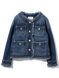 [Rakuten Fashion]Moname / ノーカラージャケット BEAMS LIGHTS ビームスライツ コート/ジャケット デニムジャケット ブルー【送料無料】