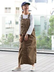 [Rakuten Fashion]BEAMS BOY / コットン ポプリン ジャンパースカート beams beamsboy ビームス ビームスボーイ 定番 ヒット おすすめ 無地 シンプル スカート ワンピース オーバーオール カジュアル オールシーズン【送料無料】
